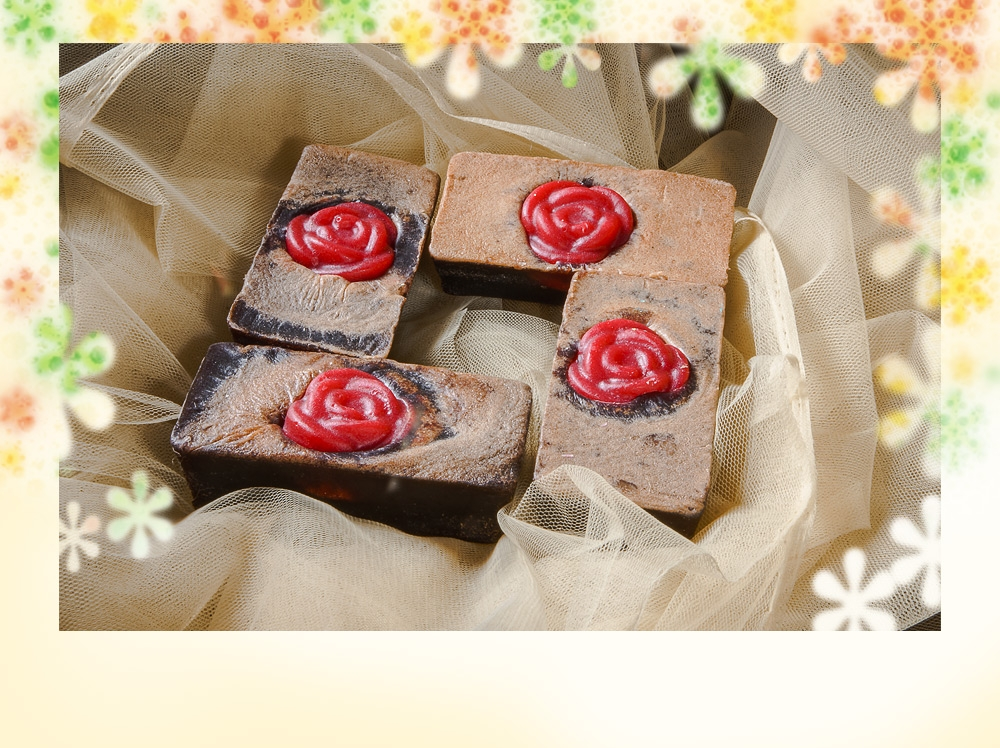 romantic chocolate soap